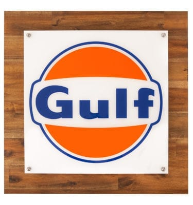 Gulf LED Light on timber backing board