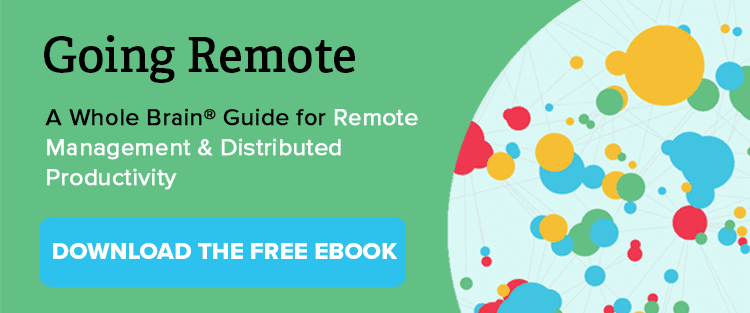 A button you can click to download an eBook guide for remote management and distributed productivity